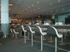 Seating in the international part of terminal 3.