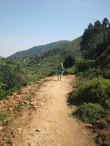 On the way to the Batwa.