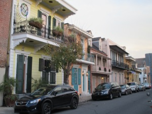 Some of the many interesting houses in the French Quarter.