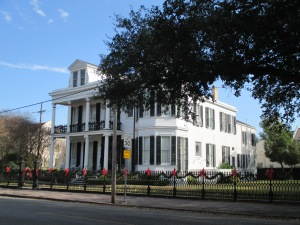 One of the huge houses in the Garden District.